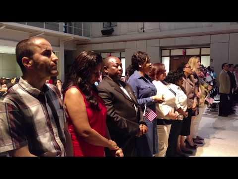 Naturalization Oath Ceremony - 2017, Montclair, NJ