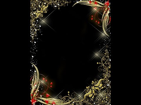 Frame Templates  - Gold With Red hearts PSD Frame on VALENTINE'S DAY  (Download & tutorial)