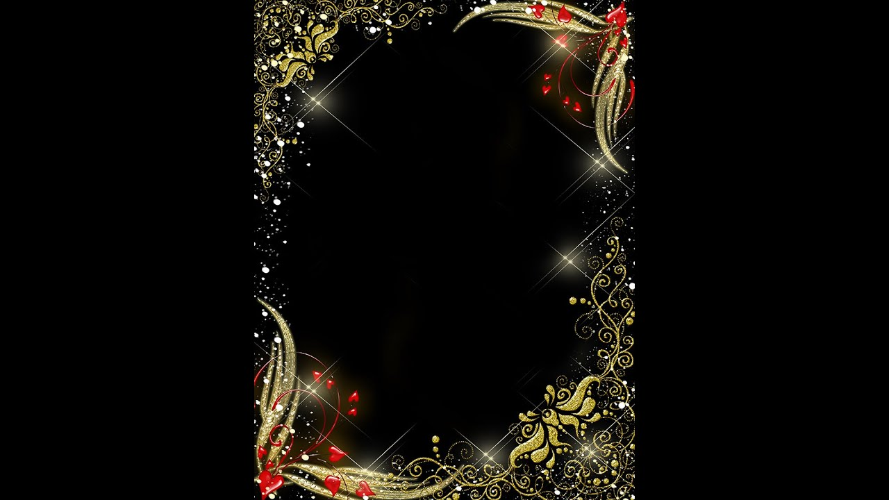 Frame Templates   Gold With Red Hearts PSD Frame On VALENTINEu0027S DAY ( Download U0026 Tutorial)   YouTube