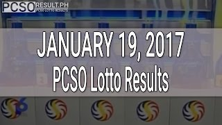 PCSO Lotto Results January 19, 2017 (6/49, 6/42, 6D, Swertres & EZ2)