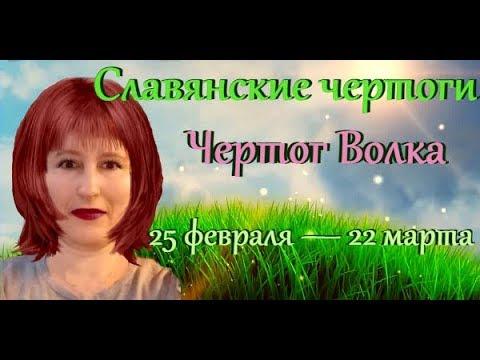 Славянские чертоги, чертог Волка по дате рождения