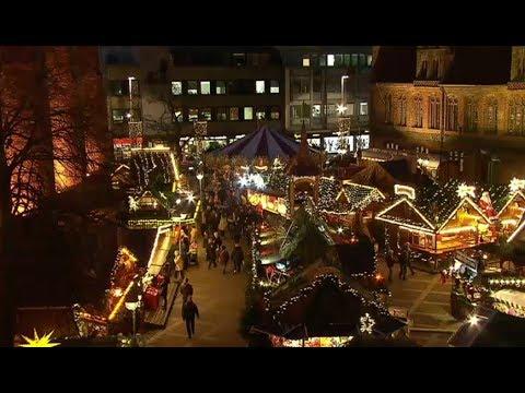 Hannover Weihnachtsmarkt.Unterwegs Auf Dem Weihnachtsmarkt In Hannover