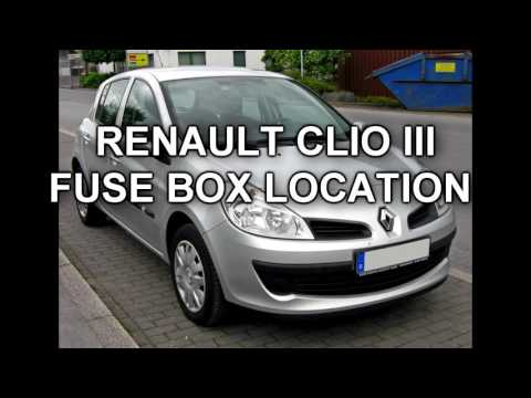 [SCHEMATICS_44OR]  REANULT CLIO 3 FUSE BOX LOCATION - YouTube | Renault Clio V Reg Fuse Box |  | YouTube
