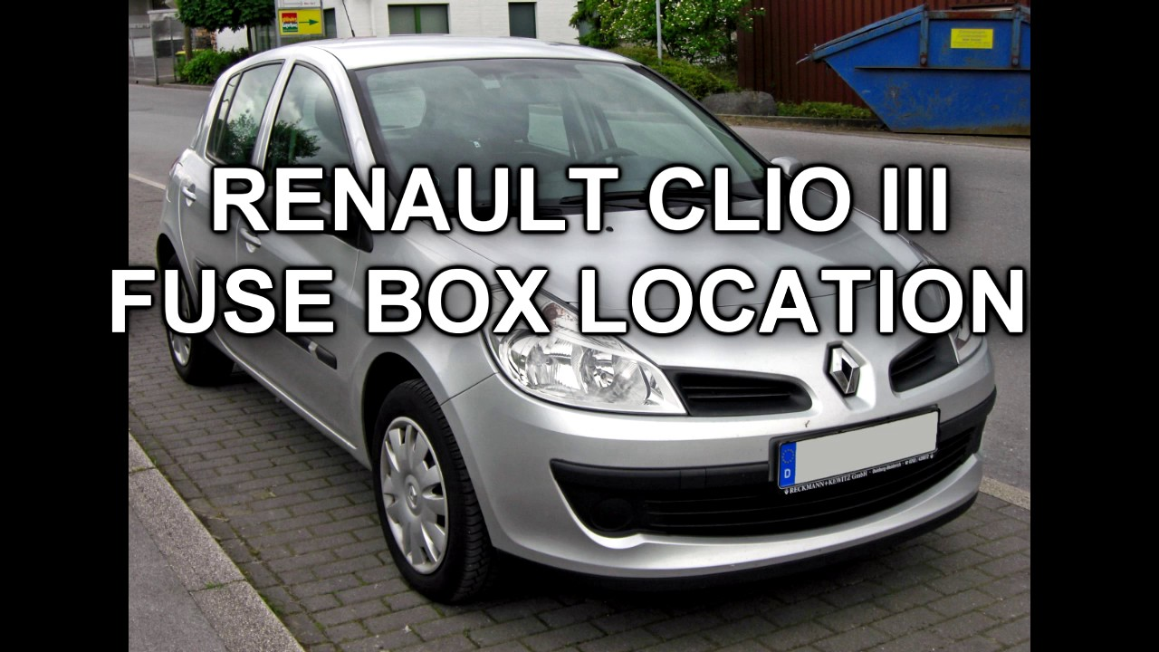 Renault Clio 54 Fuse Box Wiring Diagram Guide 2006 Simple Schemareanult 3 Location Youtube Toyota