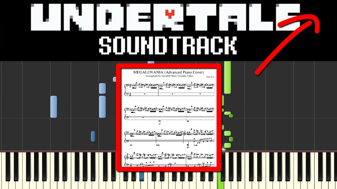 Undertale Megalovania Sheet Music Tutorial Advanced Piano