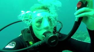Diving with Handbiker Christiane Reppe on Lanzarote