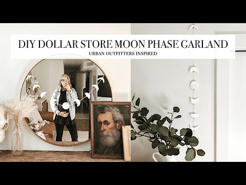 DIY Dollar Store Moon Phase Garland - Urban Outfitters Inspired