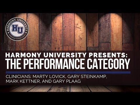 THE PERFORMANCE CATEGORY