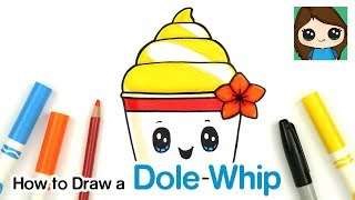 How to Draw a Disney Pineapple Dole Whip Plush