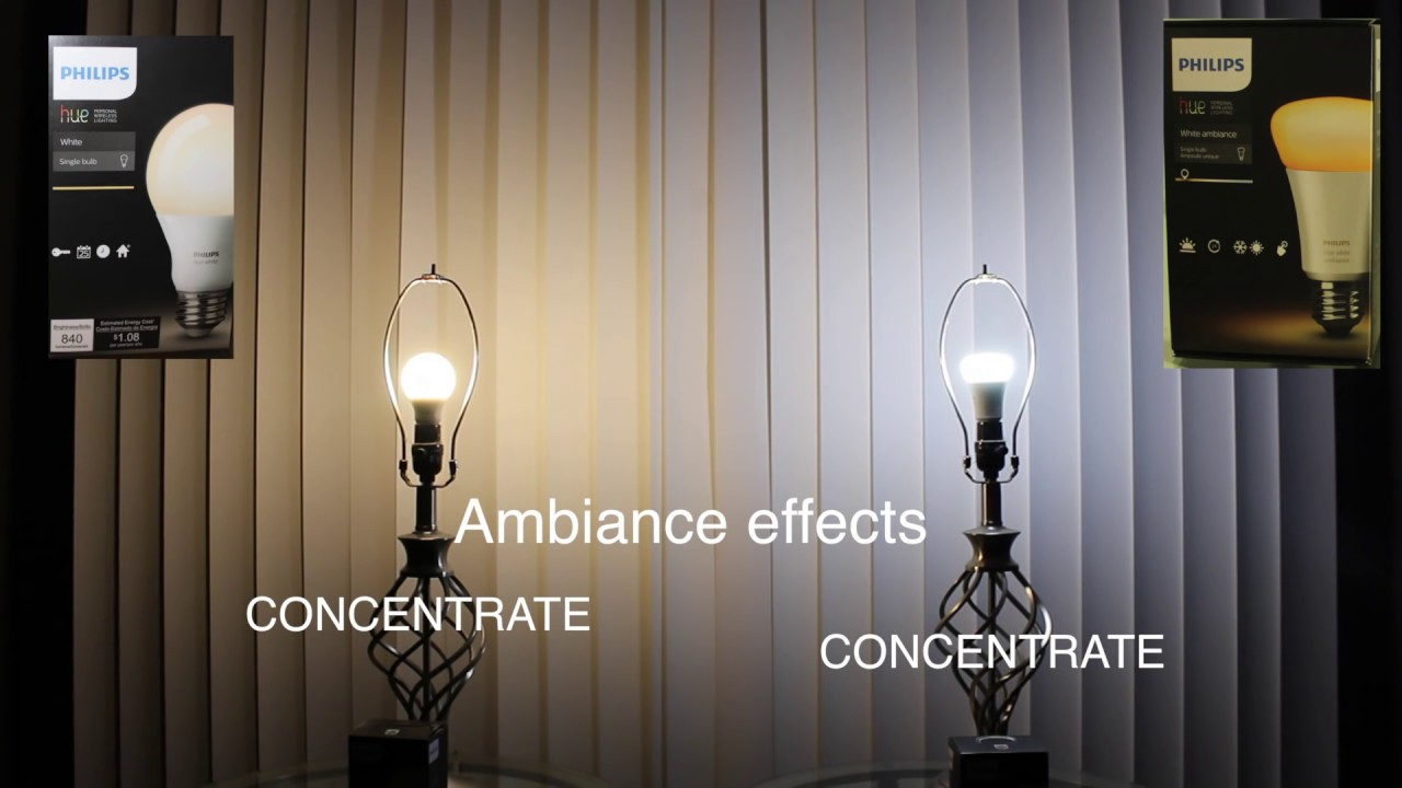 Philips Hue White Ambiance Light Bulb Comparision Youtube