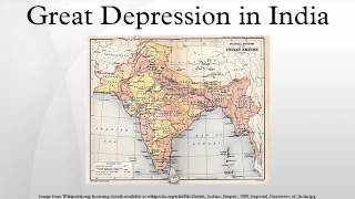 Great Depression in India
