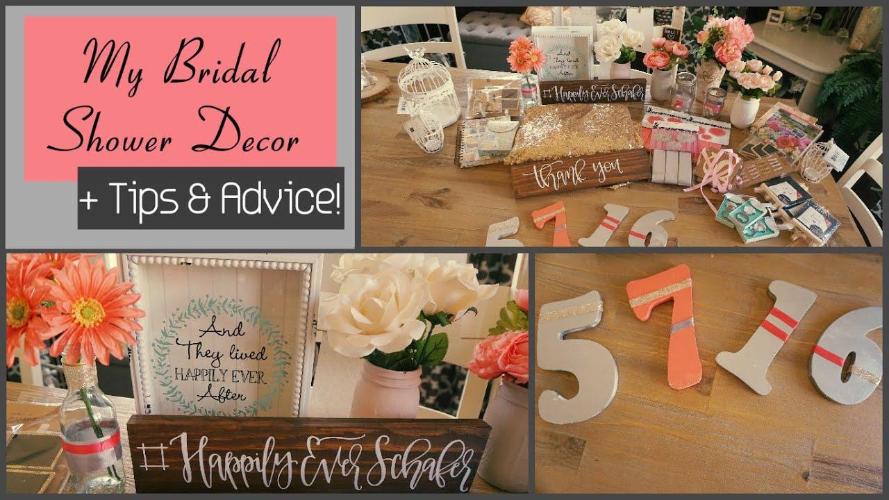 my bridal shower decor plus tips advice youtube