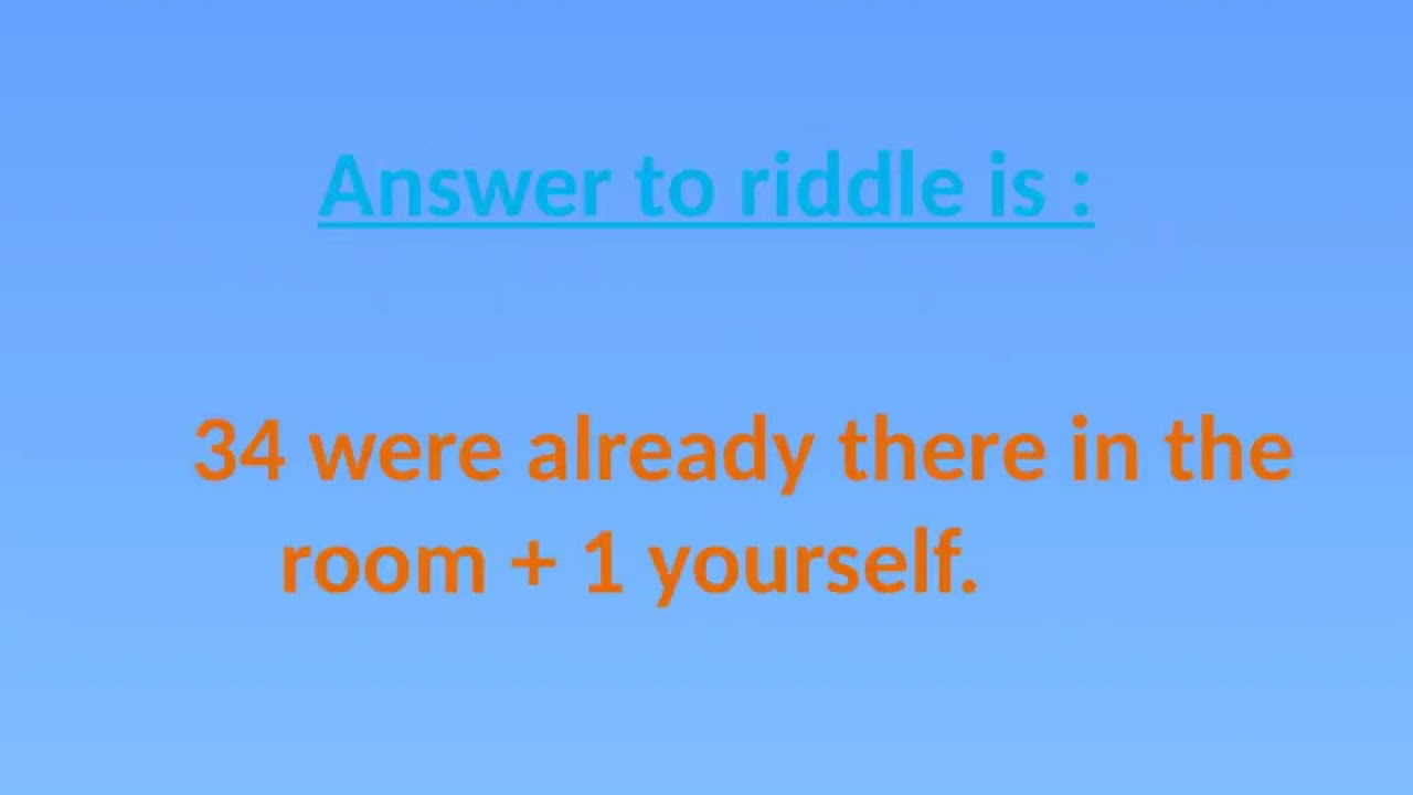 34 People In The Garden Riddle The Millennial Mirror