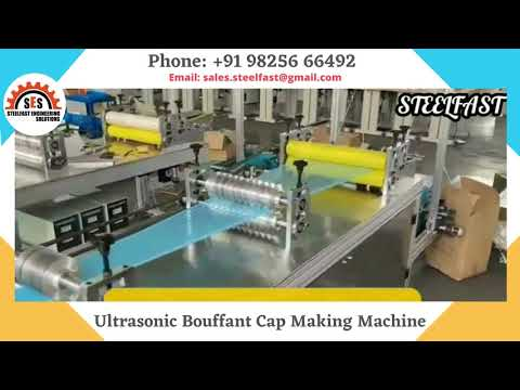 Ultrasonic Bouffant Cap Making Machine