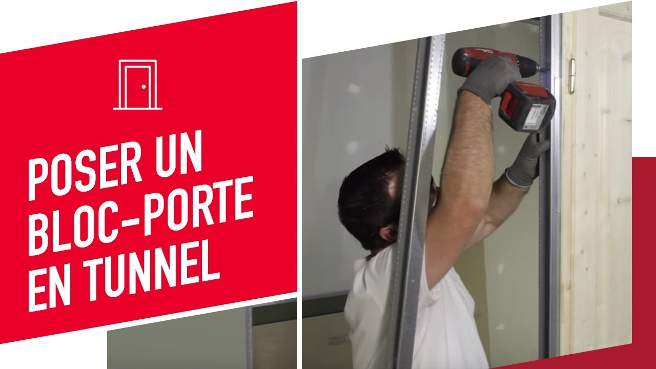 Pose en tunnel d 39 un bloc porte youtube - Installer une porte dans un couloir ...