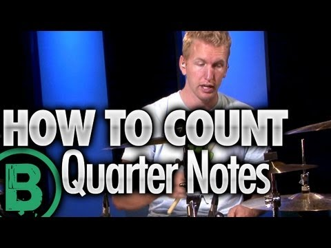 How To Count Quarter Notes - Beginner Drum Lessons