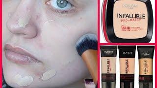 YouTube Made Me Buy It!: L'Oréal Infallible Pro-Matte 24HR Foundation & 16HR Powder