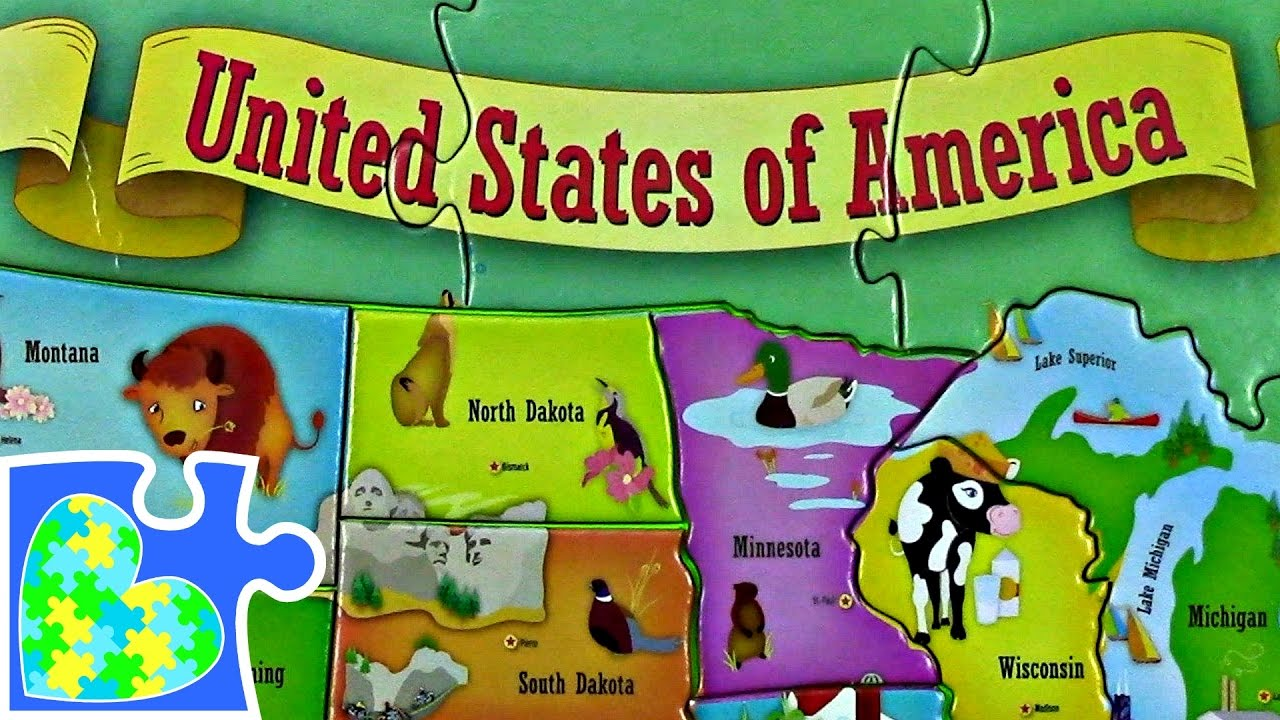 US MAP FOR KIDS USA 50 STATES FOR CHILDREN! Mapa del Estados Unidos ...