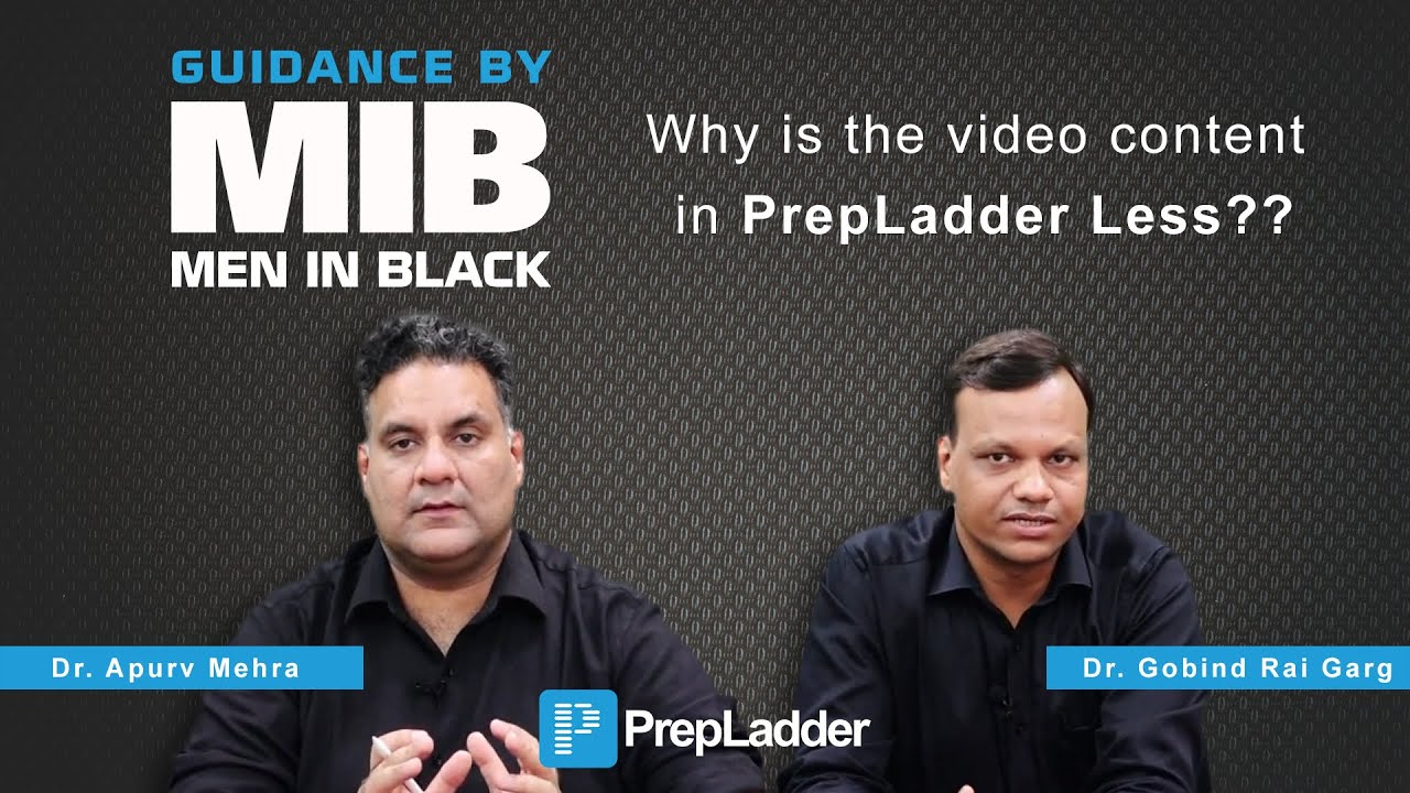 Why is the video content in PrepLadder less - by MIB