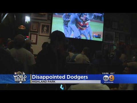 Dodgers Fans Drown Their Sorrows After Losing World Series