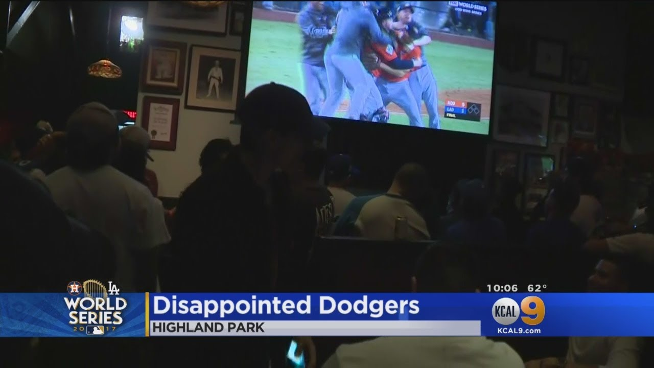 Dodgers Fans Drown Their Sorrows After Losing World Series Youtube
