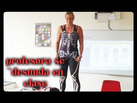Una profesora se \'desnuda\' en clase para enseñar anatomía a sus ...