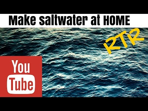 make saltwater at home for your aquarium
