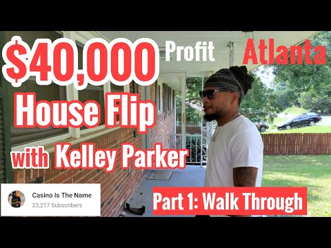 $40,000 Profit, House Flip in Atlanta (Decatur) with Kelley Parker, Walk Through Before Renovation