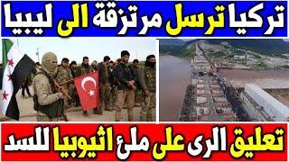 اردوغان يرسل مرتزقة الى ليبيا وتعليق الرى على ملئ اثيوبيا للسد