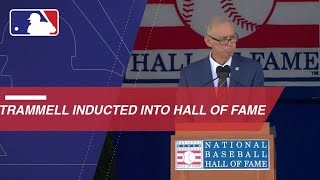 Alan Trammell inducted into the Baseball Hall of Fame