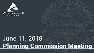 Planning Commission Meeting Jun. 11, 2018