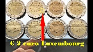 2 euro Luxembourg 8 coins Defect 2005 Defekte Münzen von Luxemburg евро Люксембург