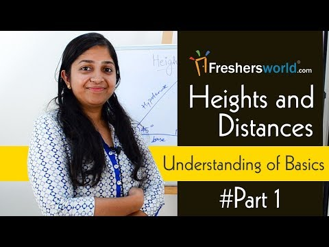 Aptitude Made Easy - Heights And Distances, Understanding of Basics