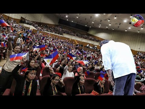 NEVER SEEN ON TV ! DUTERTE MEETS OFW's DUTERTE SUPPORTERS AT THE ROYAL CULTURAL PALACE iN JORDAN