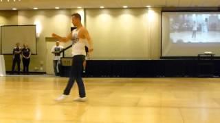 Tuesday Blues Line Dance Demo by Simon Ward @ WCLDM 2015