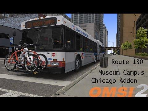 Omsi 2: Chicago Addon Route 130 to Alder Planetarium Terminus Diesel Hybrid