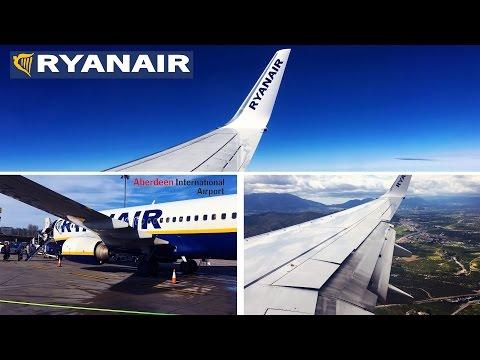 New Route! Aberdeen-Malaga Ryanair Boeing 737-800 FULL FLIGHT