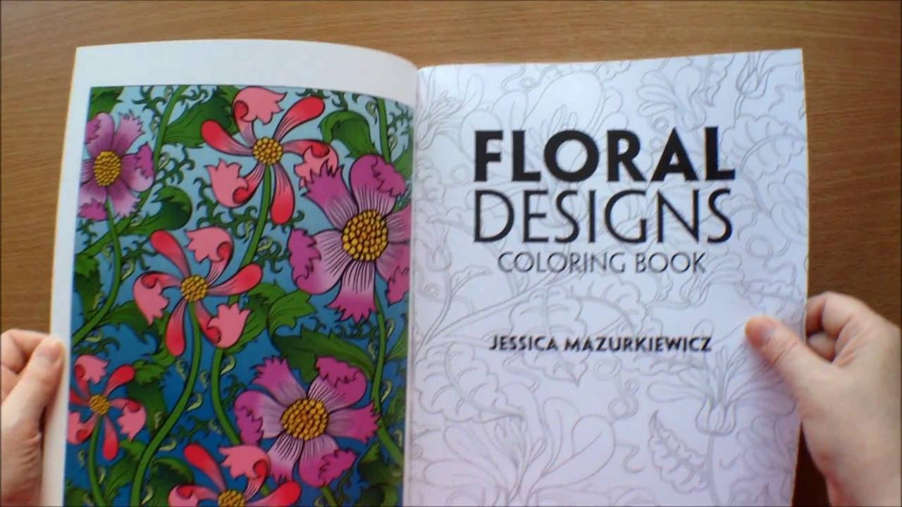 Creative Haven Floral Designs Colouring Book Flipthrough