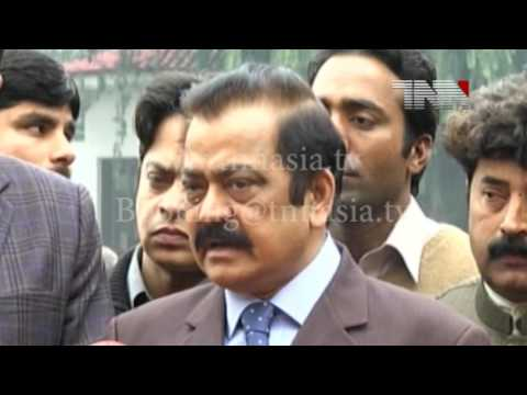 04 Lahore  Law Minister Punjab Rana Sanaullah Media Talk