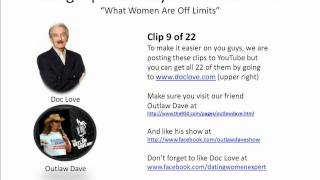 Dating Tips For Guys: What Women Are Off Limits (Outlaw Dave Show)