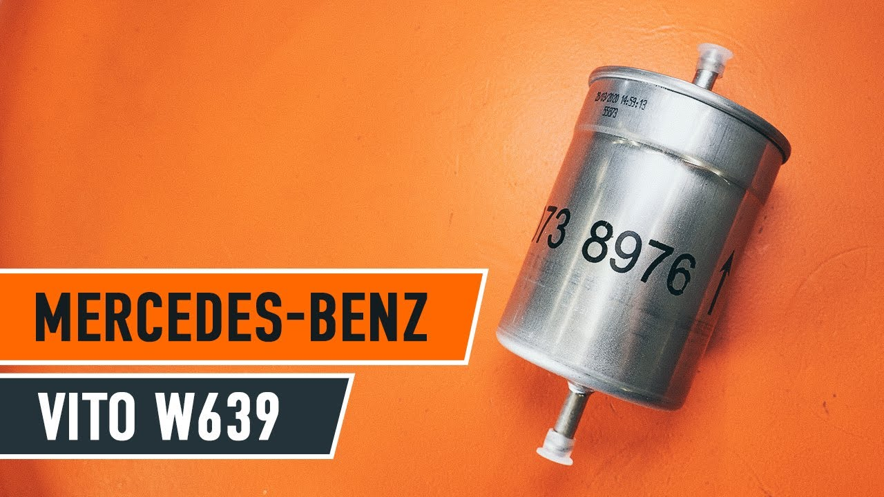 2016 Mercedes Benz Sprinter >> How to replace fuel filter on MERCEDES-BENZ VIANO W639 ...