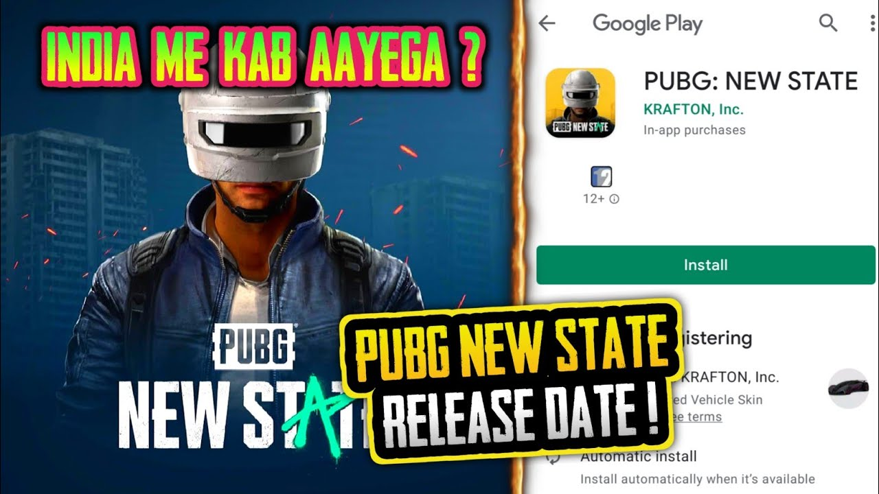 PUBG NEW STATE EXACT RELEASE DATE ? PUBG NEW STATE PLAYSTORE RELEASE DATE ? PUBG 2 COMING IN INDIA ?