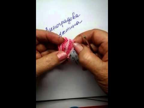 Как связать бутоны крючком