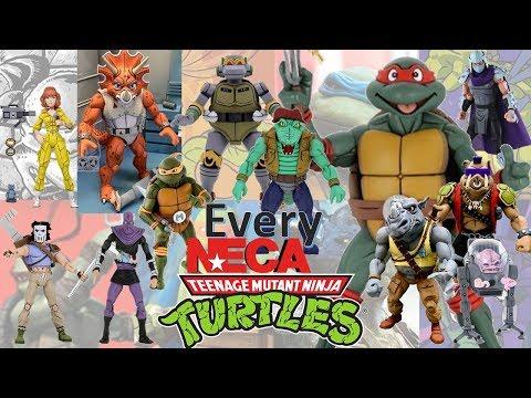 UPDATED: Every NECA TMNT Cartoon Teenage Mutant Ninja Turtles Comparison List