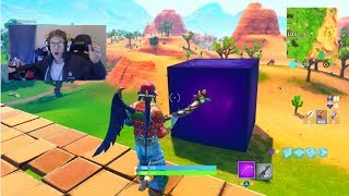 IN THE CUBE RIGHT NOW! The fortnite cube is moving AGAIN! (LIVE RIGHT NOW!)