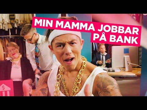 KOKOBÄNG: MIN MAMMA JOBBAR PÅ BANK musikvideo med Alex & Carro!