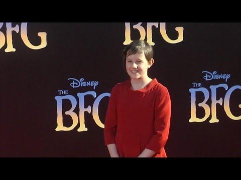 "Ruby Barnhill ""The BFG"" Premiere Red Carpet"