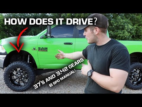 LIFTED Cummins on 37's and 3.42 Gears!!! *How it Drives*