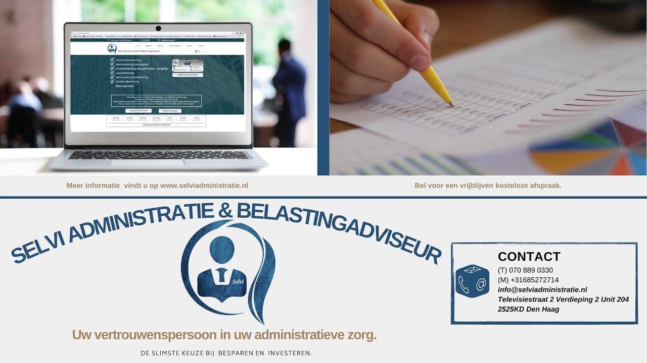 Selvi administratie de zorg en kennis die u nodig hebt voor uw bedrijf. Bekijk onze korte filmpje.