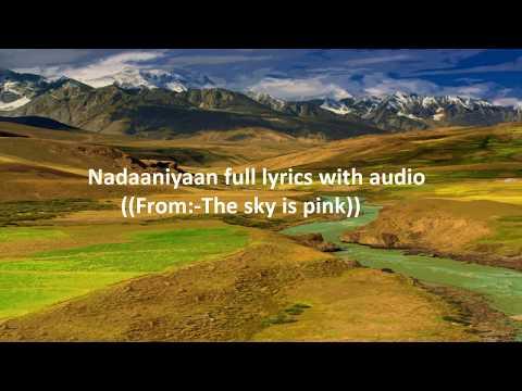 Nadaaniyaan full lyrics song....The sky is pink... Mp3